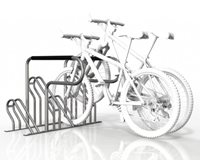 Compact Flat Pack 4 Bike Rack - Galvanised