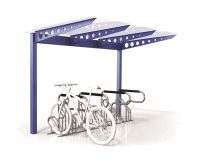 Single Sided Access 8 Bike Shelter - Type 1