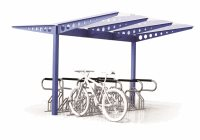 Double Sided Access 16 Bike Shelter - Type 1